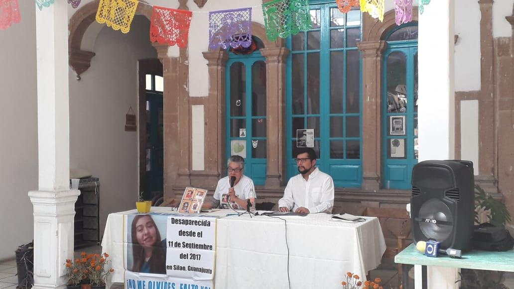 Doña María Herrera en el Refugio del Barrio