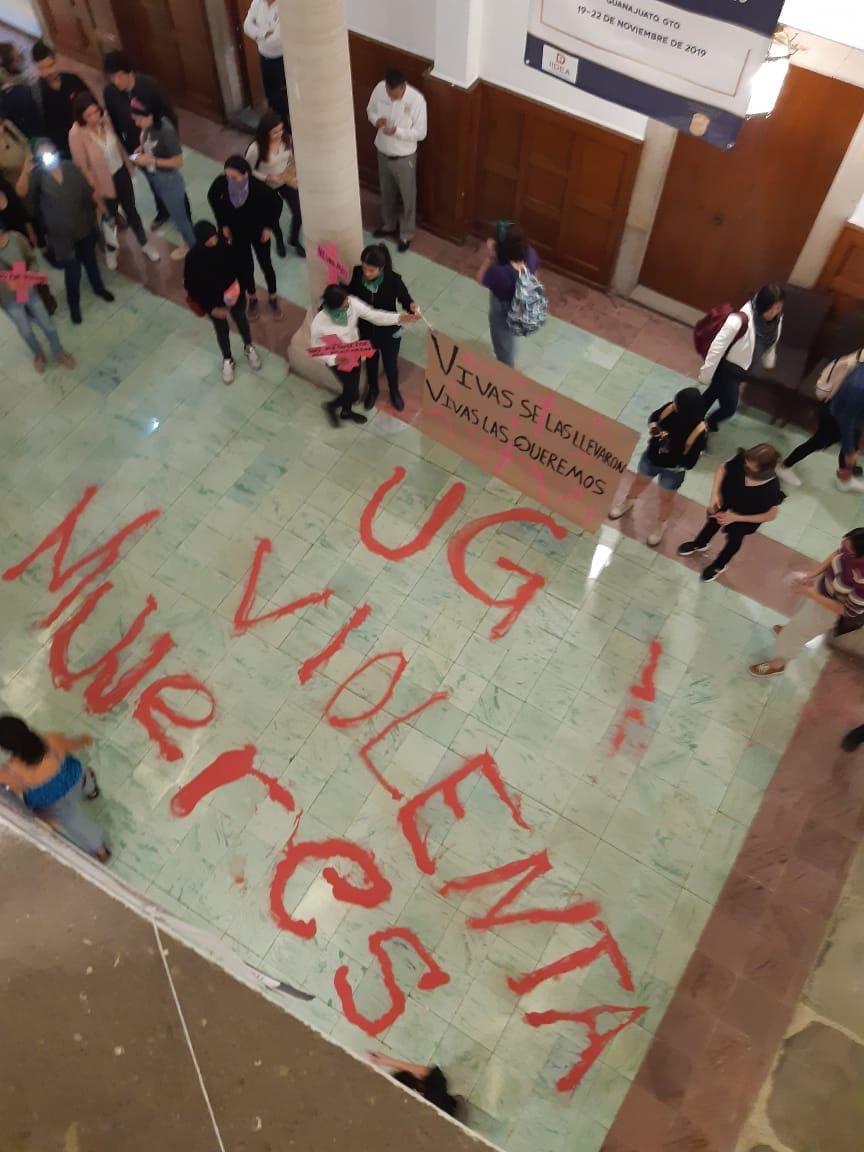 Fotografía compartida por la Red de Movimientos Feministas de Guanajuato