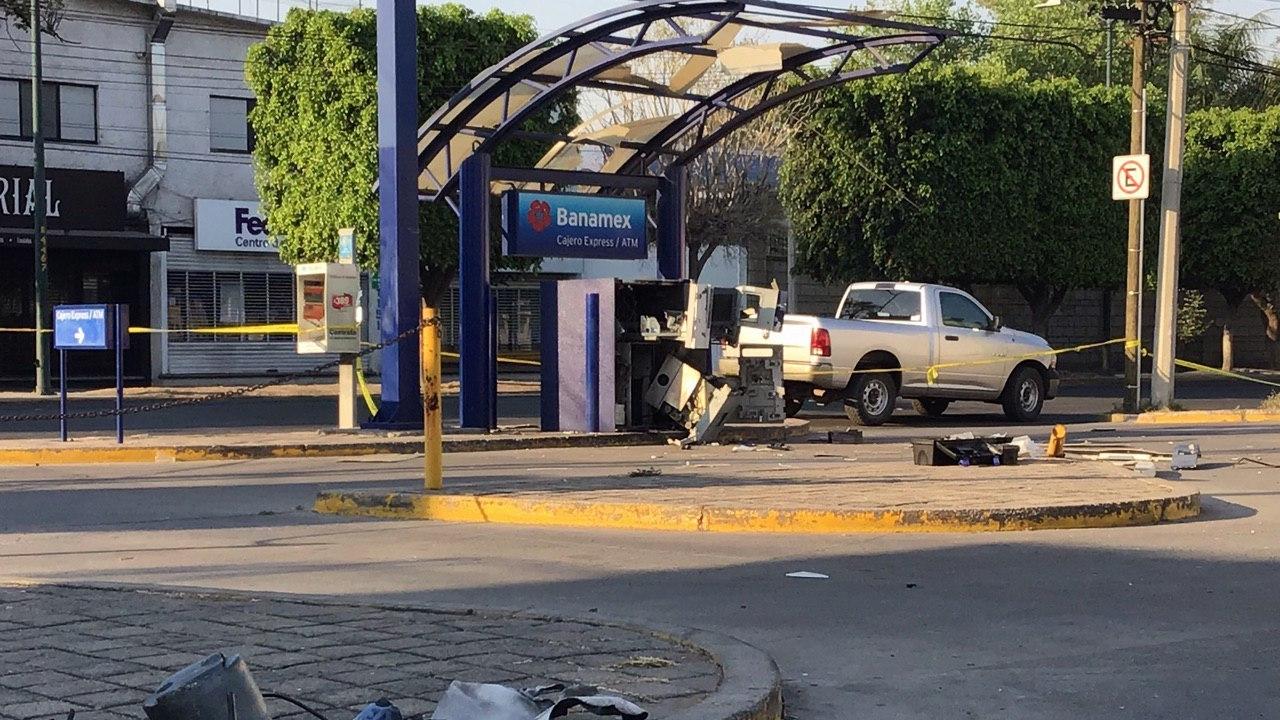 Explosión en cajero automático. Foto: POPLab