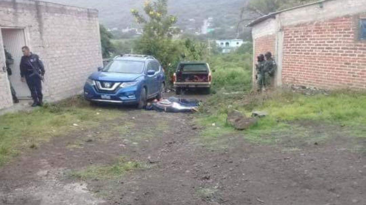 El otro grupo de presuntos detenidos, en Yuriria.