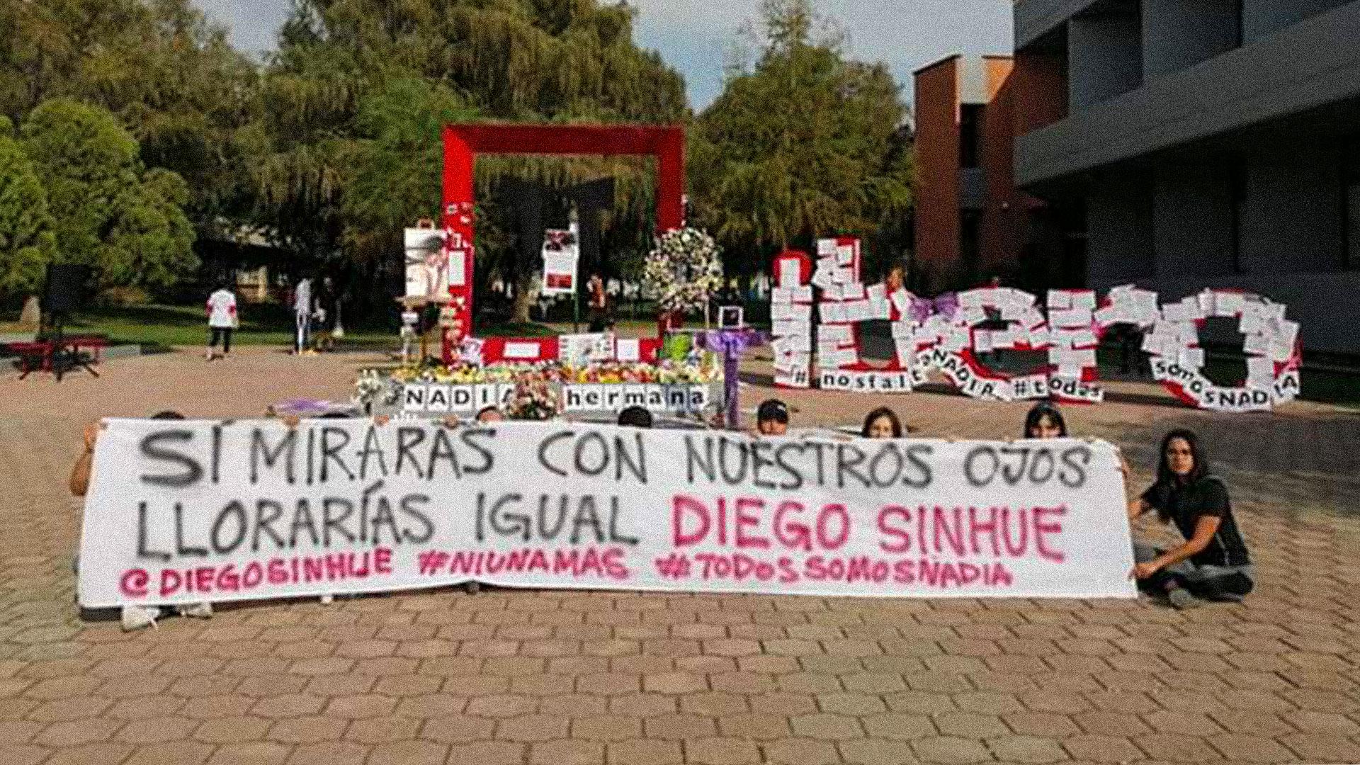 El asesinato de una estudiante de la Universidad iberoamericana provocó una movilización de protesta en contra del gobierno de Diego Sinhue