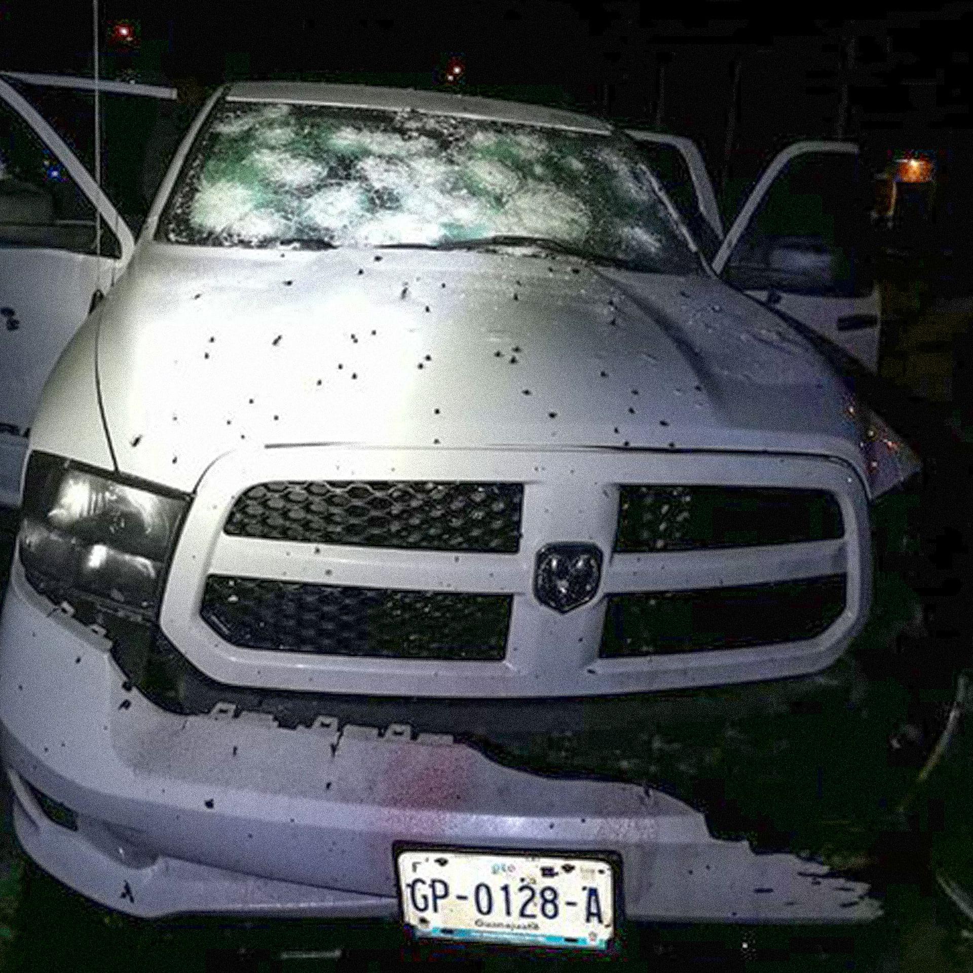 Vehículo en el que José Carlos Ramos sufrió un atentado perpetrado por integrantes del CSRL. Foto de periódico AM.