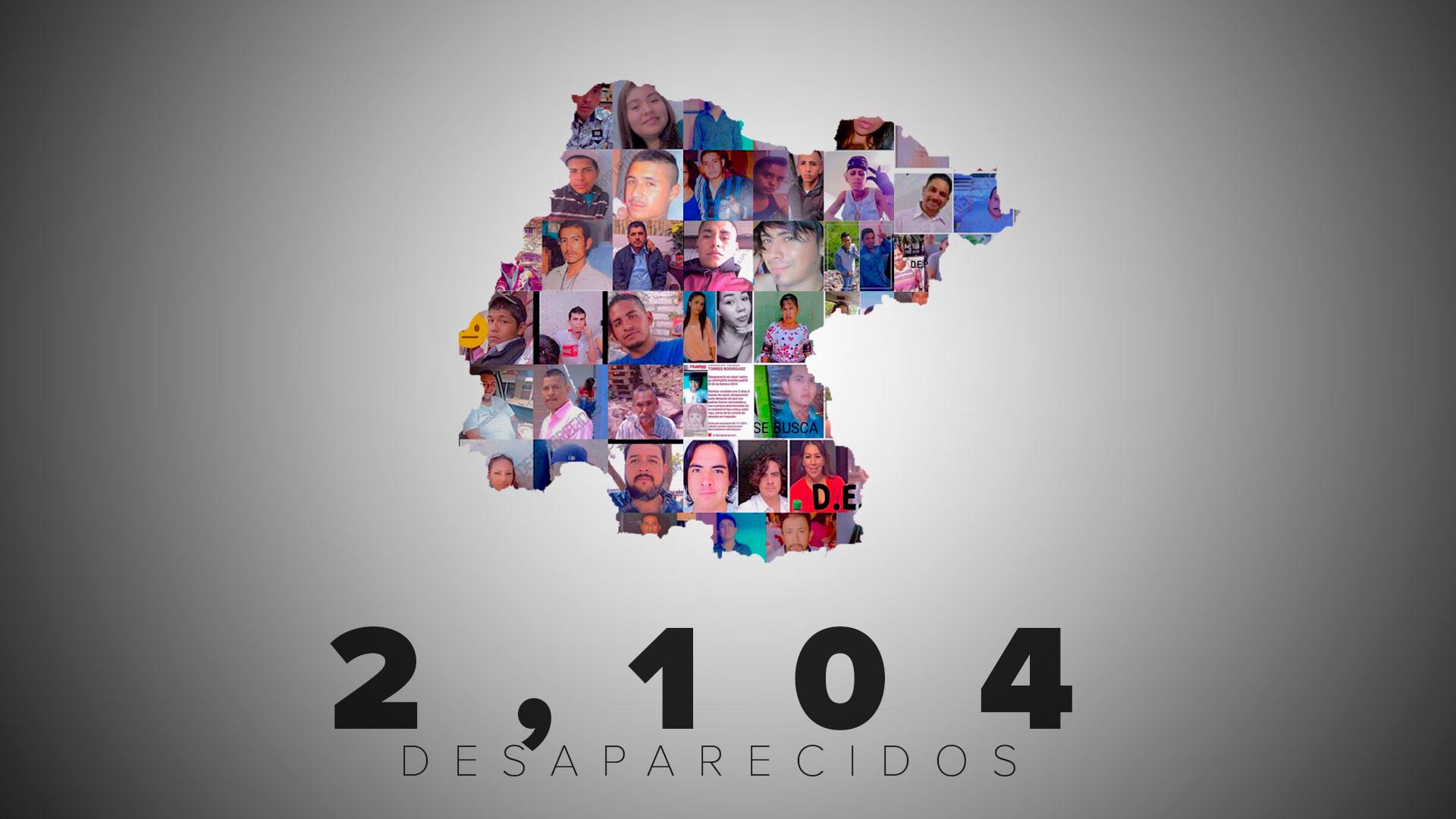 Especialistas como Fabrizio Lorusso estiman en 2,100 los desaparecidos en el estado. Las autoridades reconocen solo 11 casos.